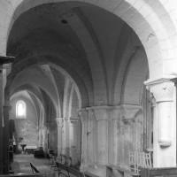 La base du clocher vue vers le nord-ouest (1996)