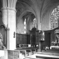 Vue partielle du choeur et de l'abside vers le nord-est