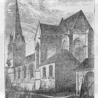 L'église à la fin du 19ème siècle.