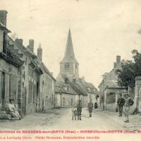 Le village et l'église en 1907