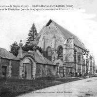 Le chevet intact de l'église en 1918