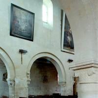 Vue partielle du mur nord de la nef vers le nord-est depuis le bas-côté sud (2008)