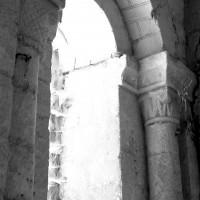 La fenêtre au nord de la base du clocher