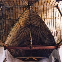 La charpente à la croisée du transept vue vers l'est (2003)