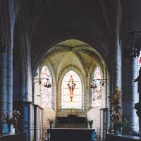 Le choeur du prieuré vu vers l'est (2003)