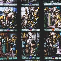 Détails du vitrail de sainte Jeanne d'Arc (2003)