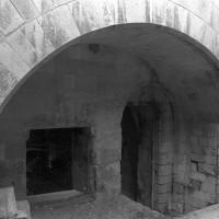 L'entrée nord de l'étage inférieur de la chapelle de l'abbé (1999)