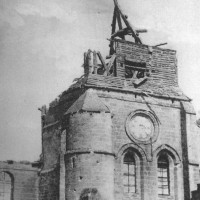Le clocher de l'église en 1918