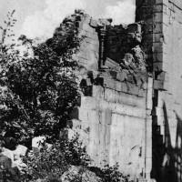 Vue partielle de l'église en 1917