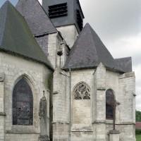 Le choeur Saint-Nicolas et la chapelle de la Madeleine vus de l'est (2003)