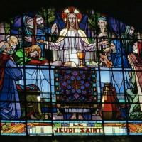 Vitrail des années 1920 représentant le Jeudi Saint (2007)
