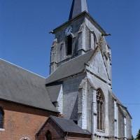 La chapelle sud et le clocher vus du sud-ouest (2005)