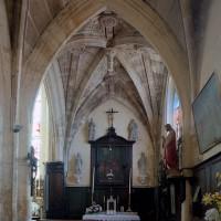 La chapelle seigneuriale vue vers l'est (2002)