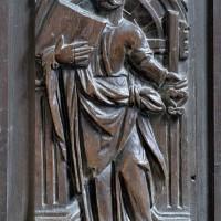 Panneau sculpté du choeur : saint Pierre (2006)