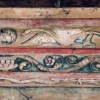 Détails de la sablière de la charpente du choeur (2005)