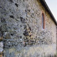 Le mur nord de la nef vu depuis le nord-est (2005)