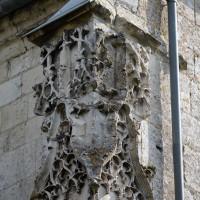Décor du contrefort de l'angle nord-ouest de la chapelle nord du choeur (2016)