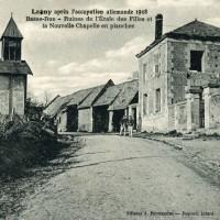 Le village et la chapelle provisoire après 1918