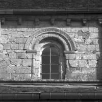 Vue partielle du mur gouttereau sud de la nef (1996)
