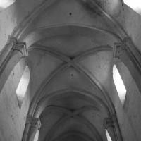 Les voûtes de la nef vues vers l'est (1996)