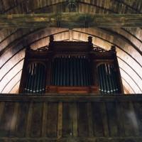 La tribune de la nef et l'orgue vus vers l'ouest (2003)