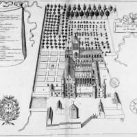 Vue de l'abbaye avant la Révolution, extraite du Monasticon Gallicanum
