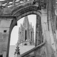 Arc-boutant du côté nord de la nef (1970)