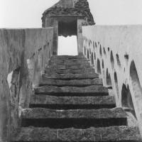 Escalier du pignon du bras nord du transept (1970)