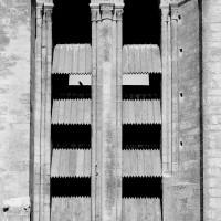 Baies de l'étage du beffroi de la face sud de la tour nord (1970)