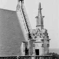 Le pignon du bras nord du transept vu vers le nord-ouest (1970)
