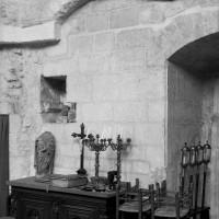 Vestiges de l'ancien accès à la chapelle sur le mur nord (1986)