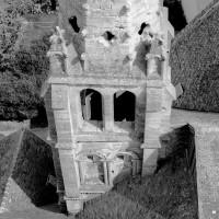 Le clocher nord vu du sud depuis le clocher sud (1993)