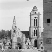 L'église vue vers l'est depuis les parties hautes du choeur de la cathédrale (1970)