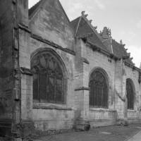 Le bas-côté nord de la nef vu du nord-est (1993)
