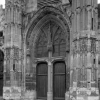Le portail central de la façade ouest (1993)