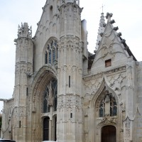 La façade ouest vue du sud-ouest (2018)