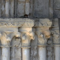Les chapiteaux des piédroits de gauche du portail sud (2017)