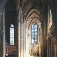 Le bas-côté sud du choeur vu vers l'est (1996)
