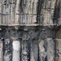Les chapiteaux des piédroits de gauche du portail ouest (2017)