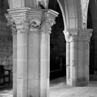Les piliers du mur sud de la nef