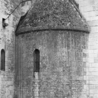 L'absidiole du bras nord du transept, reconstruite au 19ème siècle à l'identique de celle du 11ème siècle, sur le modèle de celle du sud (1974)