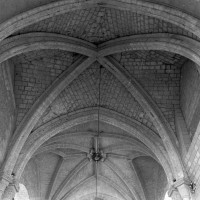 Les voûtes du choeur et de la croisée du transept vues vers l'ouest (1996)