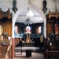 Vue partielle de la nef et du choeur vers l'est (2004)