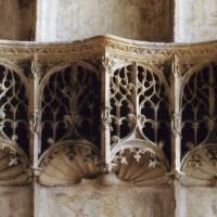 Détail du retable sculpté de la chapelle de Charles d'Hangest (2007)
