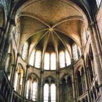 Les parties hautes du bras nord du transept vues vers le nord (2006)