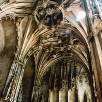 Elévation et voûtes de la chapelle de Charles d'Hangest vues vers le nord-est (2007)
