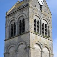 Le clocher-porche vu du nord-ouest (2016)