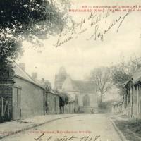 Le village et l'église en 1908