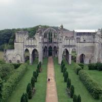 Le transept et le choeur vus depuis les parties hautes de la façade (2006)