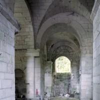 Le couloir de la crypte vu vers le sud (2007)
